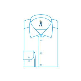 Nettoyage dans la journée de chemise repassée pliée
