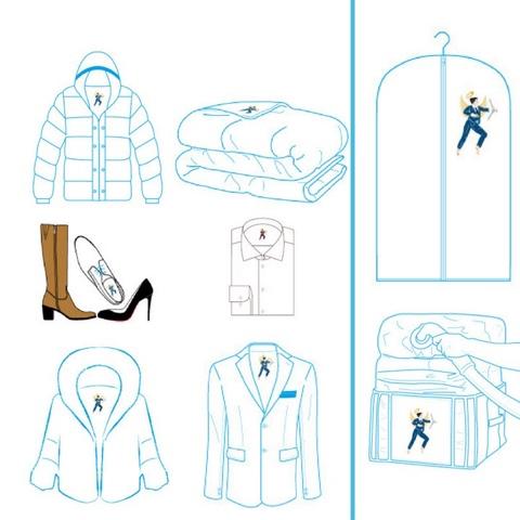 Stockage de vêtements et accessoires boutique