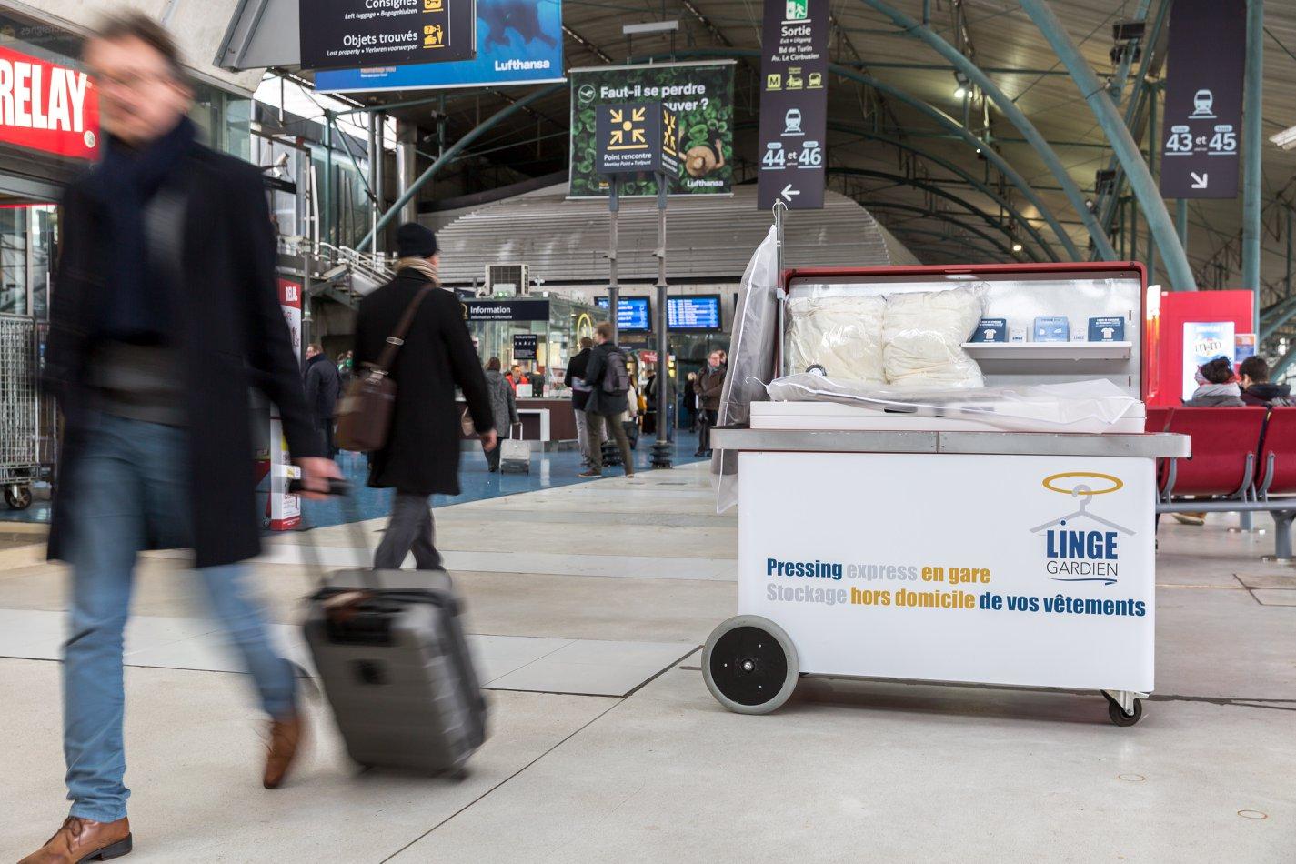 pressing éphémère à Lille Europe